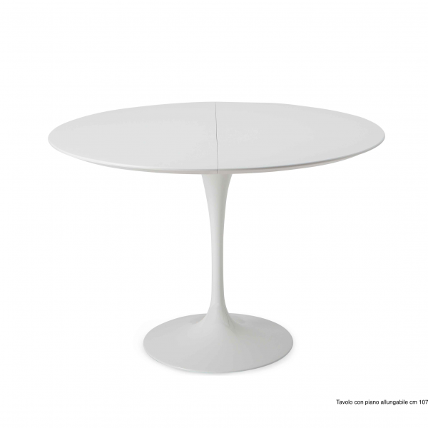 E. SAARINEN TABLE TULIP EXTENDABLE  TOP ROUND OR OVAL