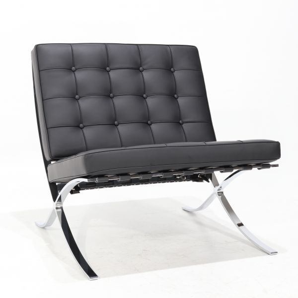 BARCELONA ARMCHAIR LEATHER P.F. COL BLACK