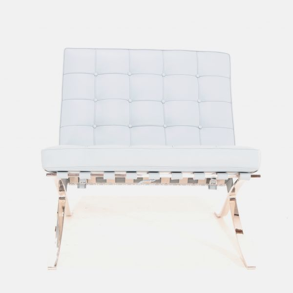 BARCELONA ARMCHAIR  WHITE P.F. LEATHER