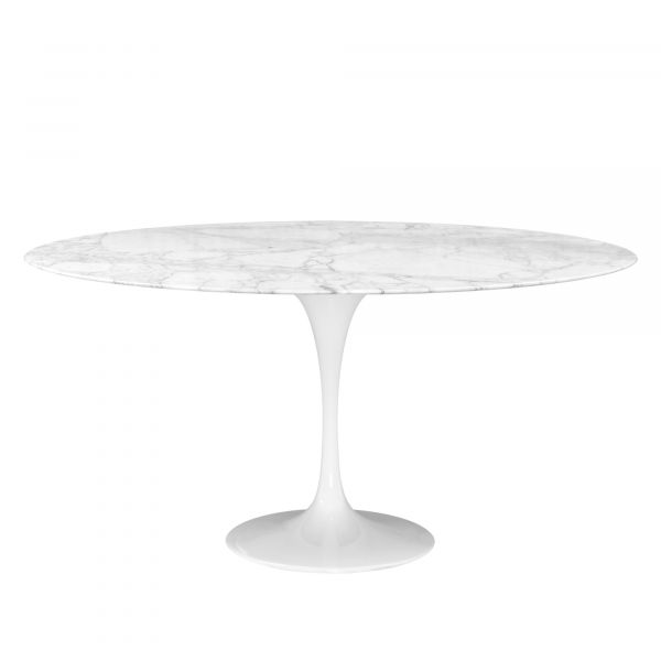 E. SAARINEN OVAL TULIP TABLE OR ROUND TABLE MARBLE ARABESCATO CERVAIOLE