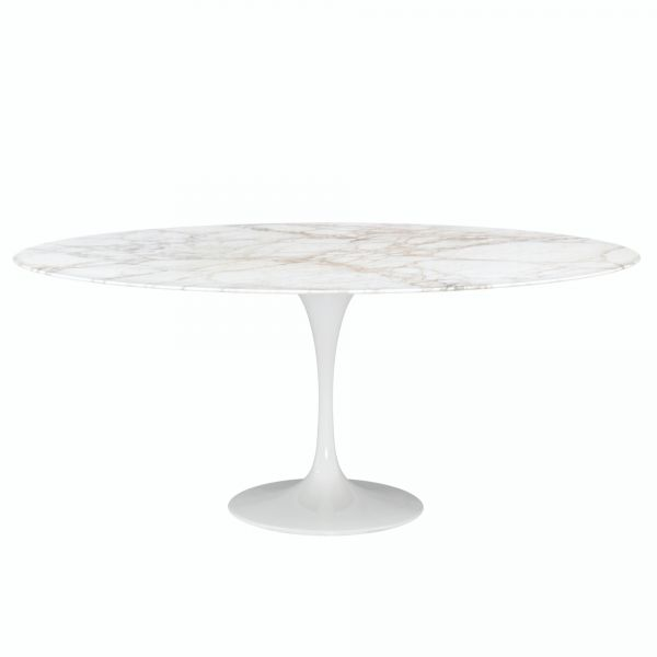 OVAL TABLE OR ROUND TABLE MARBLE CALACATTA GOLD