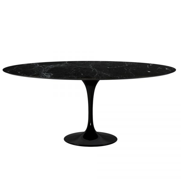 E. SAARINEN OVAL TULIP TABLE OR ROUND TABLE MARBLE MARQUINIA BLACK